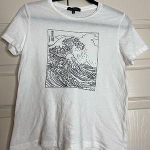PacSun Women's White Wave Shirt